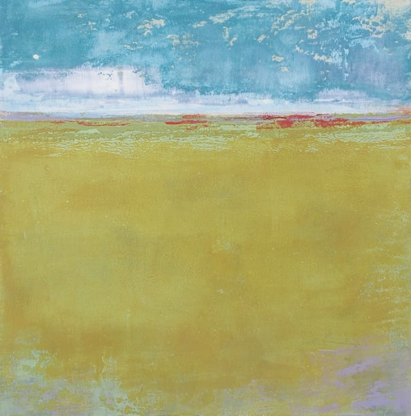 Golden Passage - Abstract Landscape Painting - Yellow Wall Art