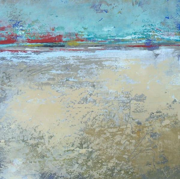 Mint Melody - Abstract Landscape Painting - Coastal Art