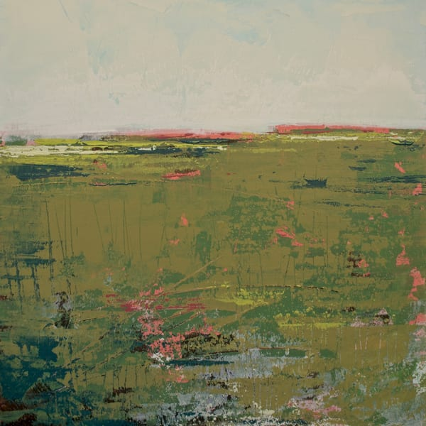 Brassy Pastures - Abstract Landscape Paintings - Wall Art