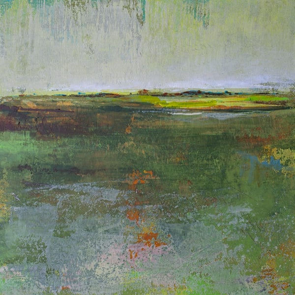 Verdant Excuse - Painting of Landscapes - Victoria Primicias