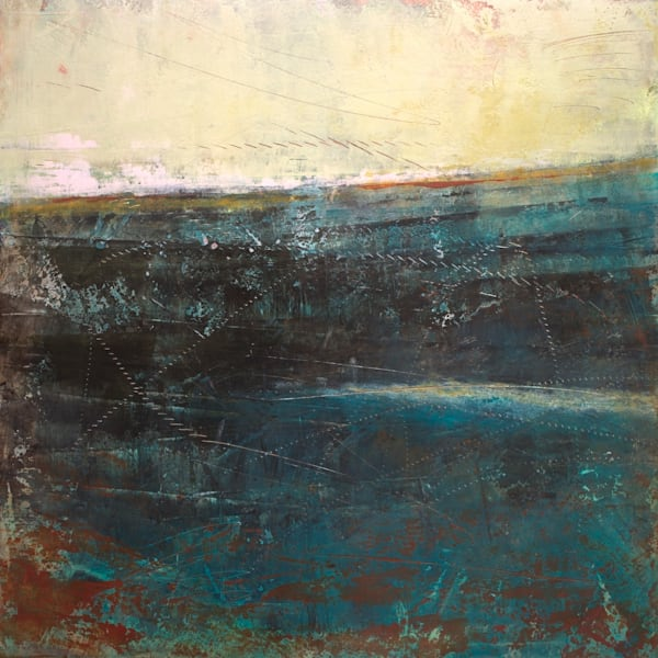 Deep End - Seascape Paintings - Fine Art by Victoria Primicias