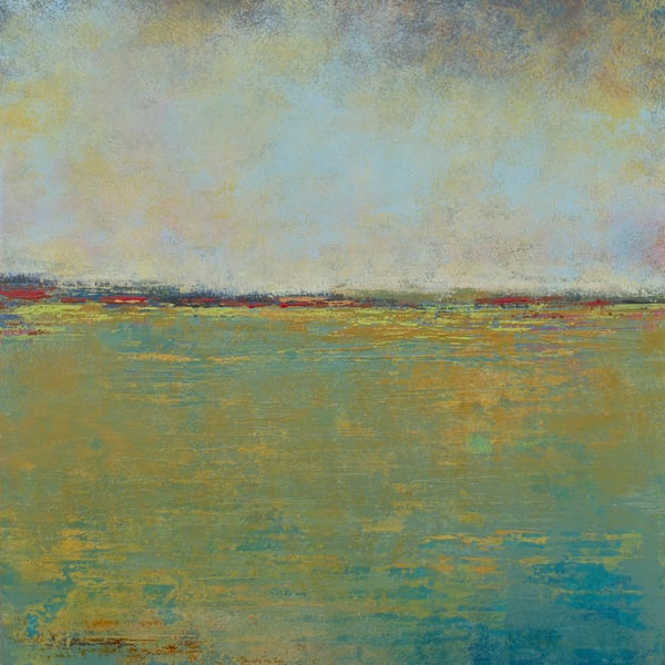 Crimson Kisses - Seascape Paintings - Yellow Wall Art