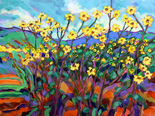 Texas Sunflower Patch In The South Forty Art | Charles Wallis