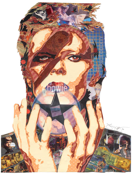 Bowie I   Music Art | Made by Kristi