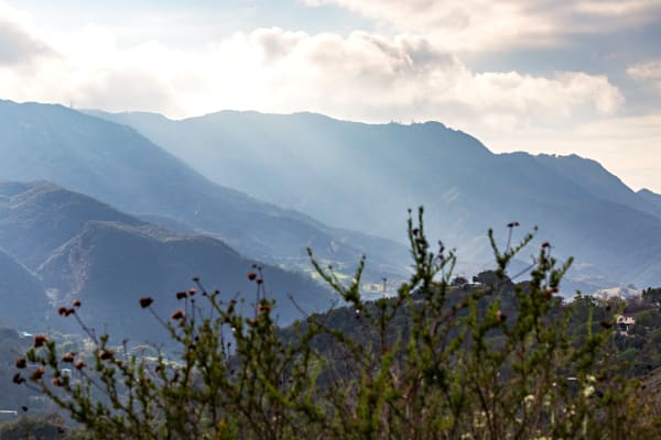 Light Rays in Topanga Canyon Photograph For Sale As Fine Art