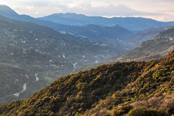Highway 27 In Topanga Canyon at Sunset Photograph For Sale As Fine Art