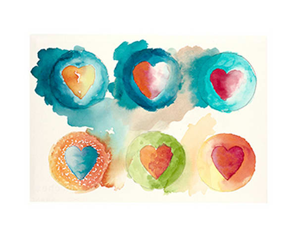 16x20 Hearts #2 On Paper | HFA print gallery