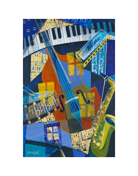 16x20 Midnight Blues On Paper | HFA print gallery
