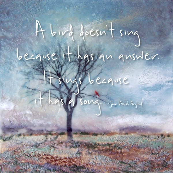 Cardinal's Perch - Zen Quotes on Wall Art - Anglund