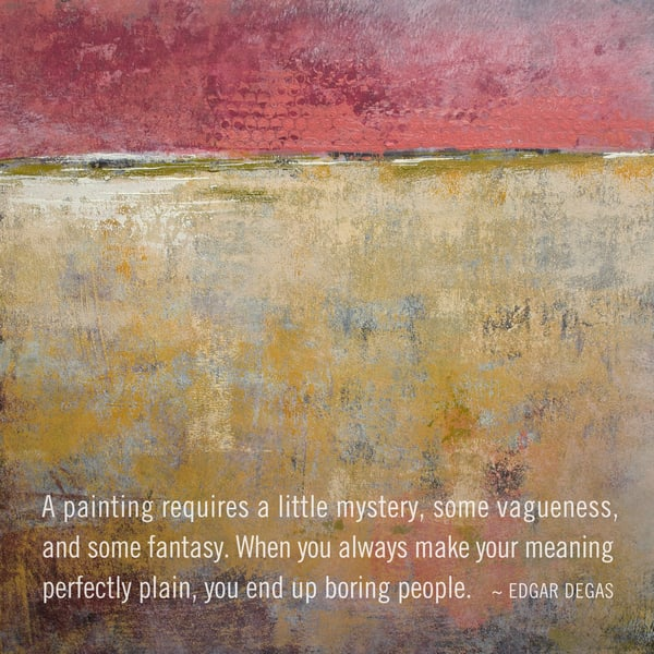 Tangerine Light - Art Quotes on Canvas - Degas