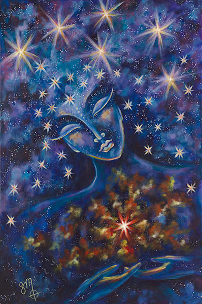 16x24 Star Goddess On Canvas | HFA print gallery