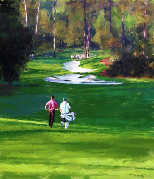 Masters golf painting | Sports artist Mark Trubisky | Custom Sports Art