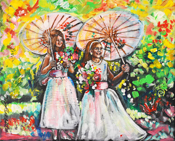 Flower Girls Art   thomaselockhart