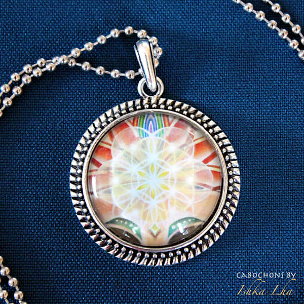 Flower of Life - Visionary Art Necklace by Ishka Lha