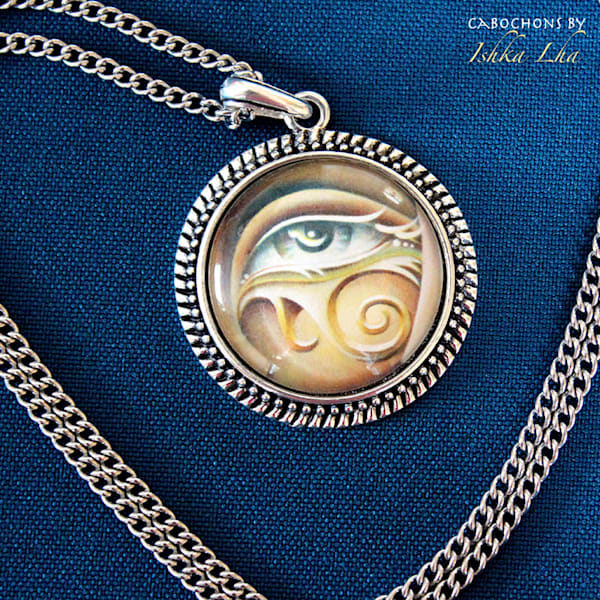 Eye of Horus - Visionary Art Necklace by Ishka Lha