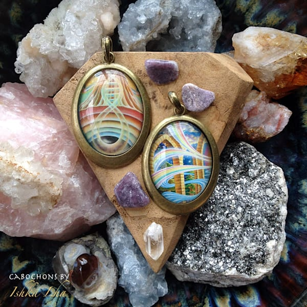 Rainbow DNA - Visionary Art Necklaces by Ishka Lha