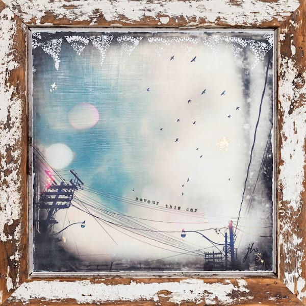 Sky Clouds and Birds Painting | Jannet Haitas