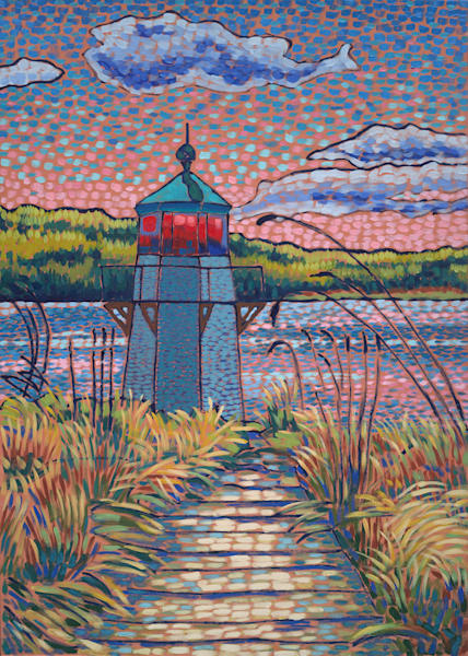 landscapes, lighthouse, squirrel point light, arrowsic, art, prints, paintings