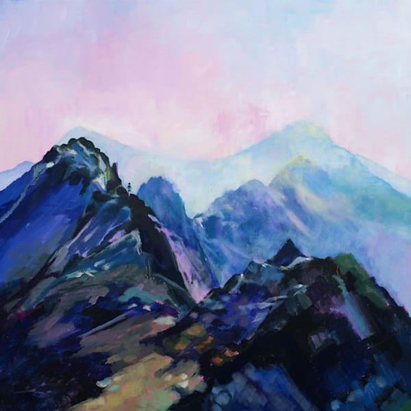 Crib Goch Snowdonia Art Print