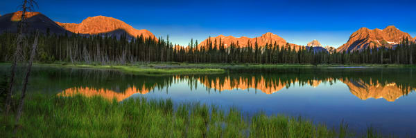 Buller Pond Canadian Rockies. Rocky Mountains|Banff National Park|