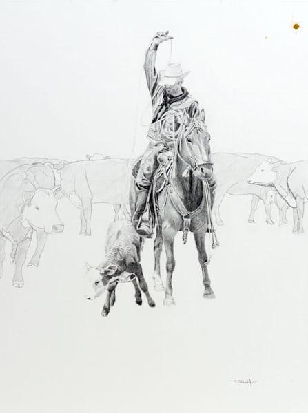 Raymond Wattenhofer Original Art Drawing On The Flats