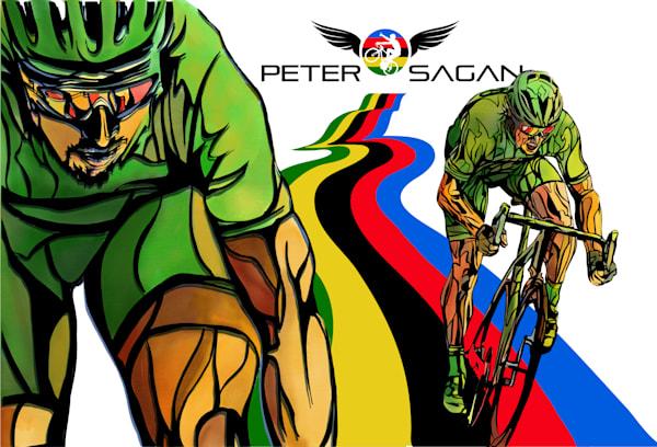 Peter Sagan art by Sassan Filsoof available as fine art prints. Click for details.