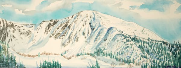 Mines Madeleine, Chic Chocs Back Country Ski Art for Sale