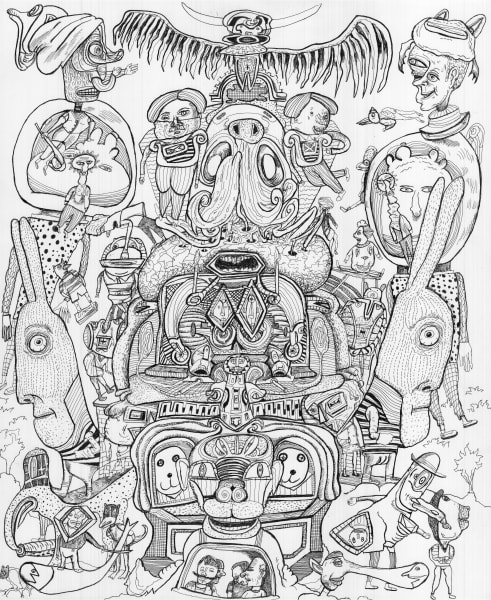Bailout Drawing Painting Art Bart Johnson Outsider Visionary Mandala Sacred Metaphysical