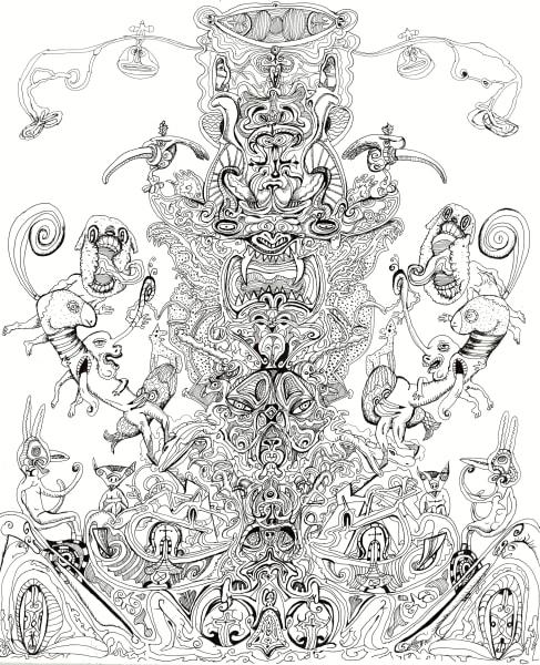 Kale 1, Bart Johnson, B/W drawing