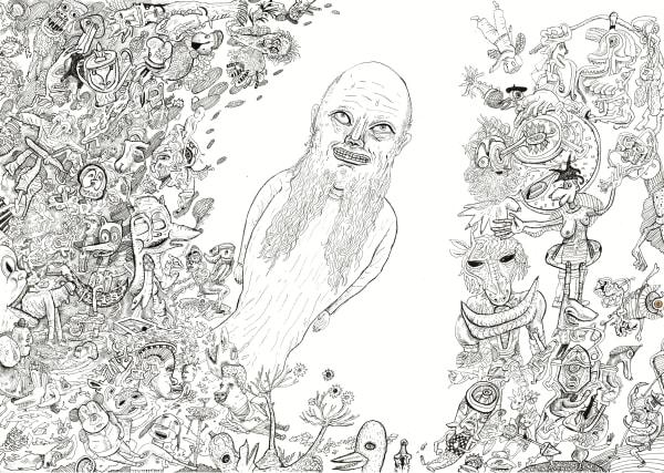 Saint Anthony Bart Johnson Art Drawing Print Painting