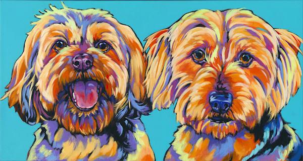 Macy And Marty  Art   Sally C. Evans Fine Art