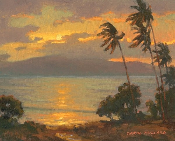 Lahaina Sunset  Art | Daryl Millard Gallery LLC