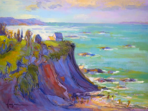 Coast French Landscape Painting Art Print by Dorothy Fagan