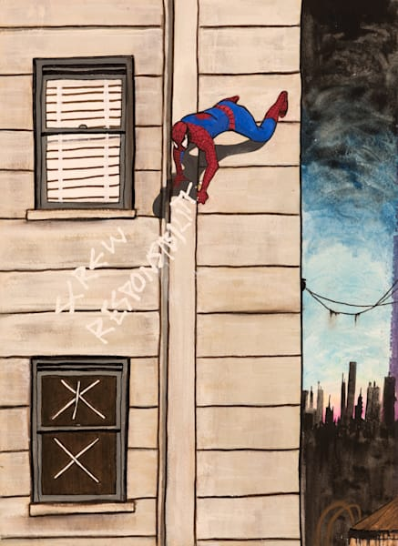 Screw Responsibility Spiderman Original Painting