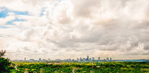View of Austin TX from Bonnell Hill,