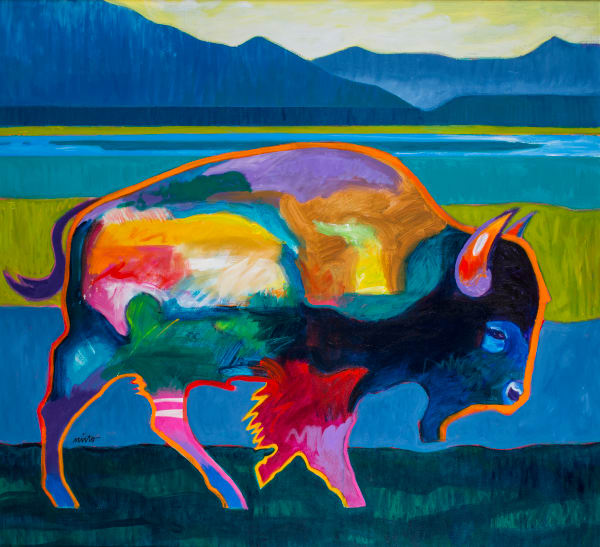 Buffalo in the Foothills | John Nieto