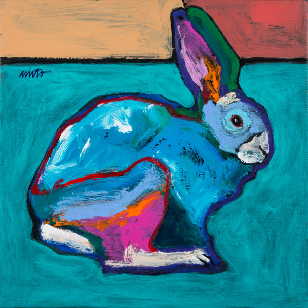 Turquoise Rabbit | John Nieto Art Open Edition Giclee