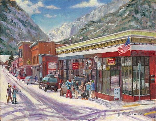 Last Dollar Saloon fine art print by Rick Brawner.