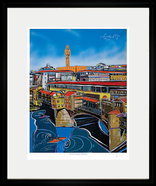 Ponte Vecchio With Clock Art | Sandy Garnett Studio
