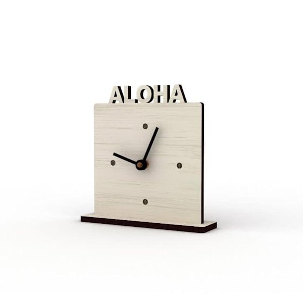 Aloha Sandbank Cutout Clock