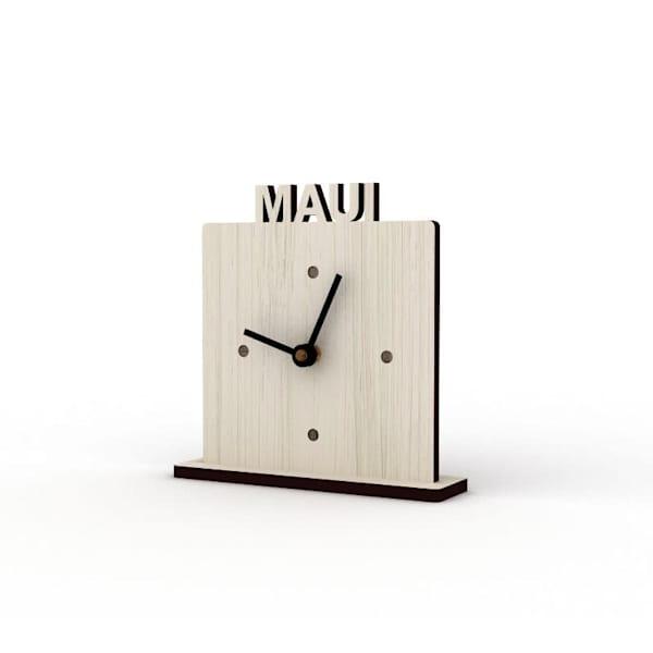 Maui Sandbank Cutout Clock