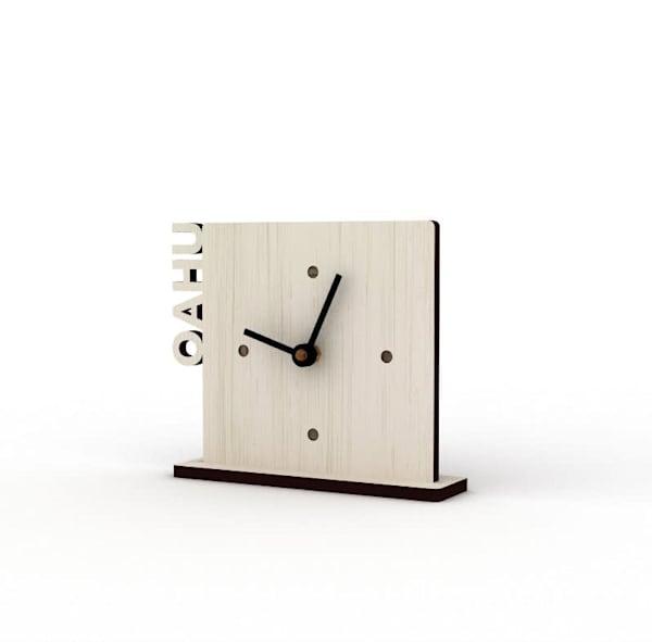 Oahu Sandbank Cutout Clock
