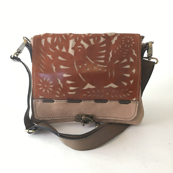 Uptown messenger bag with mexican bird cut