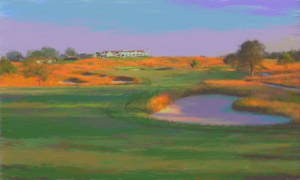 Shinnecock Hills golf painting | Sports artist Mark Trubisky | Custom Sports Art