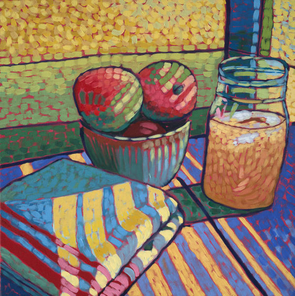 apples, tea towel, art, prints, paintings
