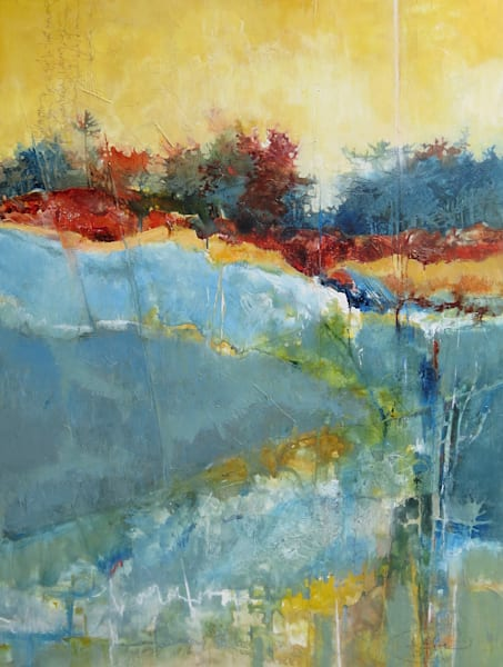 Release into Nature Landscape Painting by Sarah B. Hansen
