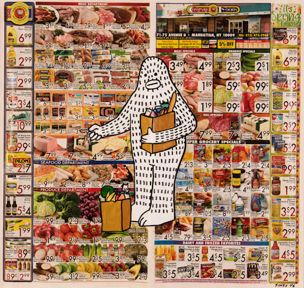Frank Ape Groceries Original Painting Available - New York Art