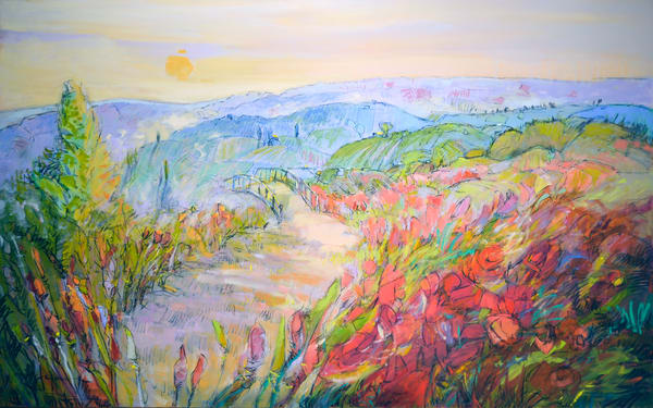 French Landscape Painting, Limited Edition Print by Dorothy Fagan