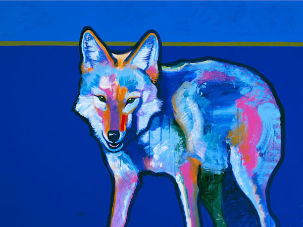 Blue Coyote | John Nieto Art Limited Edition Giclee