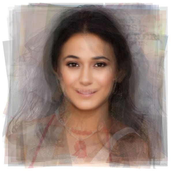 Overlay art – contemporary fine art prints of celebrity actress Emmanuelle Chriqui from Entourage.